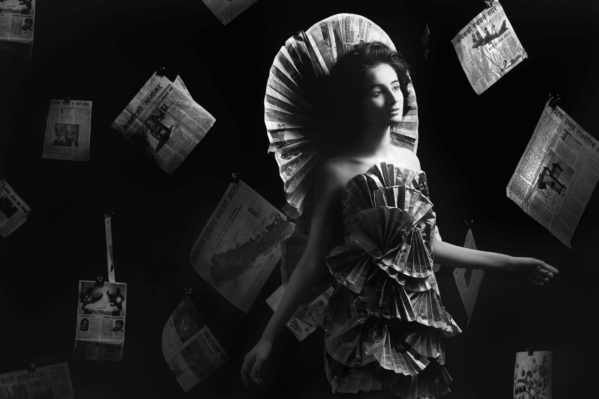 Photographer: Pawan Joshi Title: Paper Dress Price: RS. 5000/-
