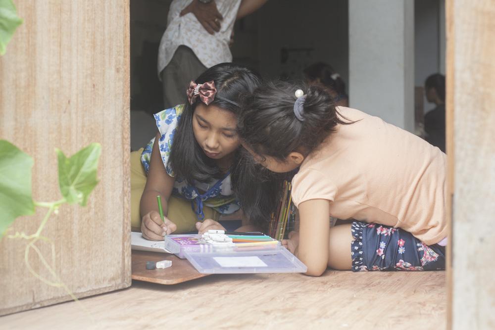 Rijula Shrestha and friend on Art Saturday