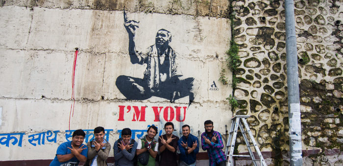 I'M YOU Street Art in solidarity with Dr. Kc